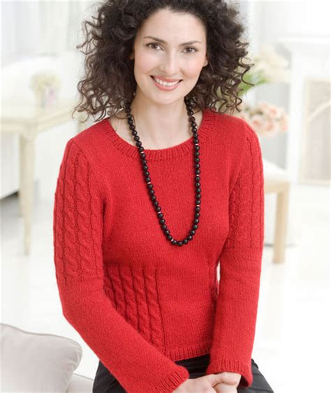 heart pattern sweater chic cable sweater red heart