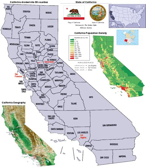 california map counties and cities california counties map