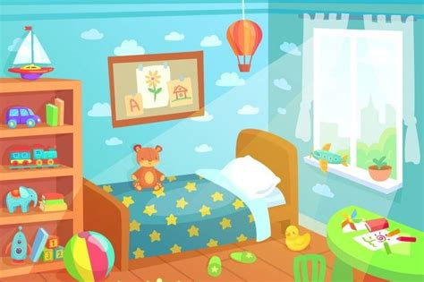 cartoon kids bedroom interior home childrens room
