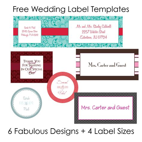 Wedding Labels by Wedding Worldlabel