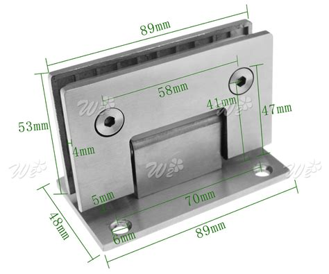 Shower Door Brackets Shower Door Hinge Wall Mount Hinge 8 12mm Bracket Frameless Wall To Glass Ebay