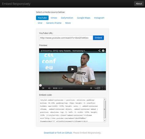 responsive layout youtube embed embed responsively pomagalnik