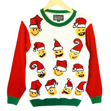 emoji xmas jumper all the feels santa emoji tacky ugly christmas sweater