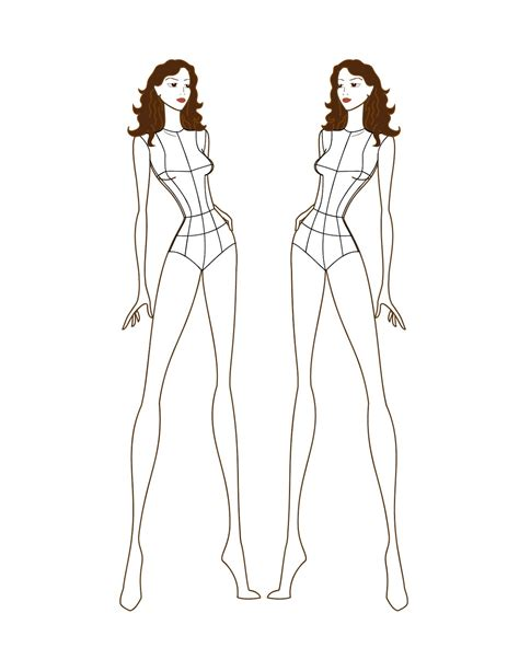 fashion model template croquis models picture