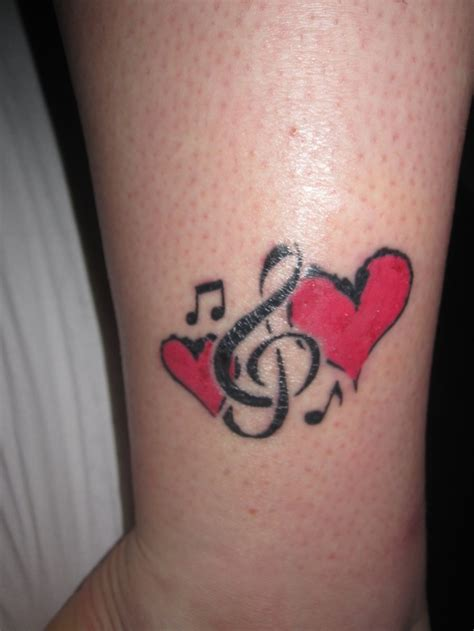 heart and music tattoo designs ankle www pixshark images