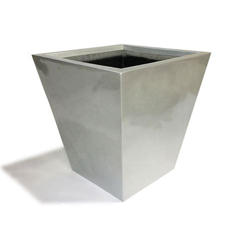Large Silver Planter by Silver Square Hi Gloss Planters Uk S
