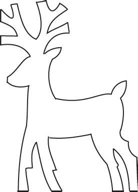 printable reindeer outline deer template new calendar template site