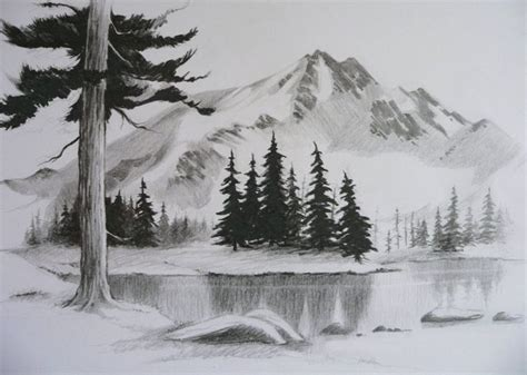 easy pencil drawings of landscapes google search gettin crafty pinterest easy pencil