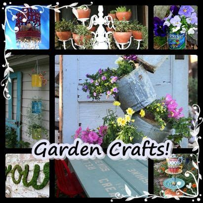 gardening crafts for garden crafts backyard ideas