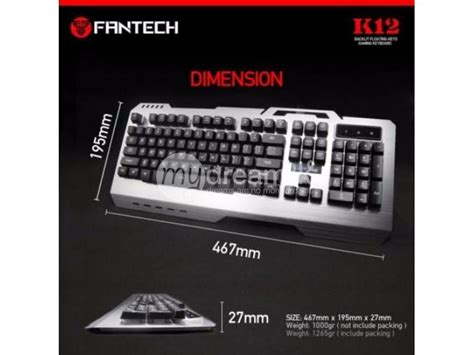 Keyboard Fantech K12 fantech k12 gaming keyboard computer accessories colombo mydream lk