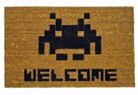 Space Invaders Doormat by Space Invader Welcome Mat 7 Gadgets