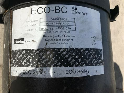 racor filters eco bc air filter housing bluebird bus semi