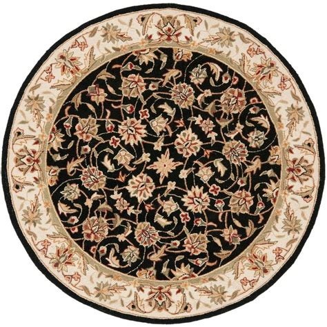 4 x 4 area rugs safavieh chelsea black 4 ft x 4 ft area rug hk78a 4r the home depot