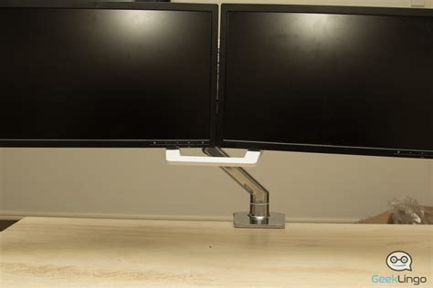 ergotron dual monitor desk mount ergotron hx desk dual monitor arm reviewed geeklingo