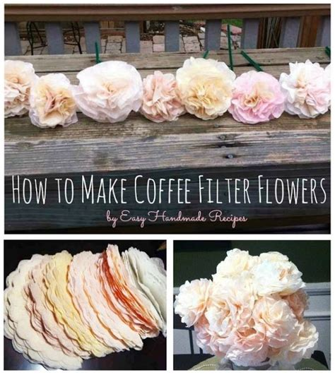 How To Make Paper Flowers From Coffee Filters - diy paper flowers diy coffee filters