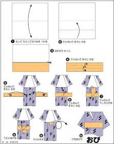 How To Make A Paper Doll Step By Step - origami kimono origami origami kimono