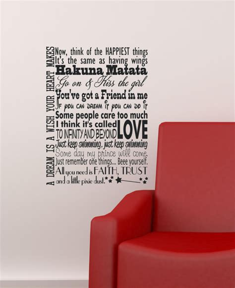 disney quote wall stickers disney quotes wall decals in this house wall sticker