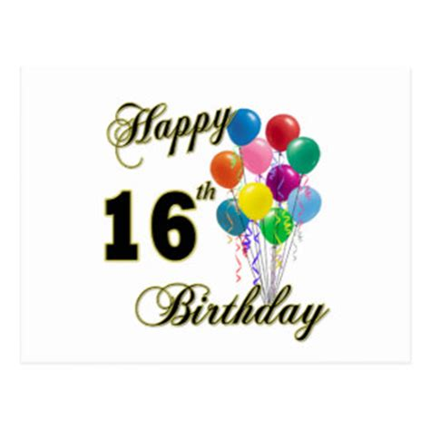 Printable Birthday Cards 16 Year Olds | happy 16th birthday cards invitations zazzle co uk