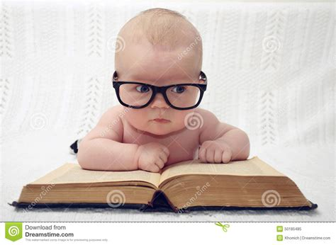 newborn pose photography idea books glasses boy marci cute little baby in glasses stock photo image 50185485
