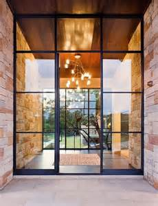 Steel Front Doors Picture Of Modern Black Steel And Glass Front Doors