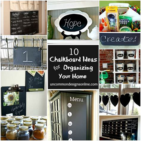10 chalkboard paint ideas for organizing your home