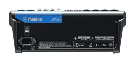 Mixer Yamaha 12 Ch yamaha mg12 12 channel mixer worldmusic usa