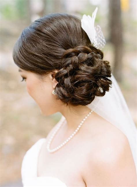 side swept wedding hairstyles with veil side swept side wedding hair with veil