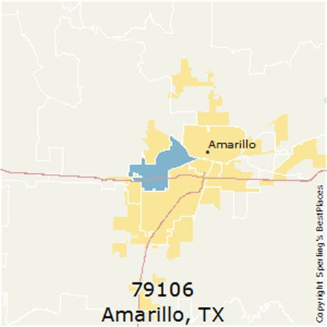 amarillo texas zip code map best places to live in amarillo zip 79106 texas