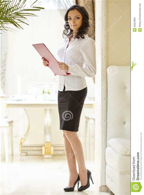 image of looking hostess at restaurant stock photo image 50207893