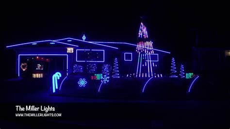 2016 miller family christmas light show the most