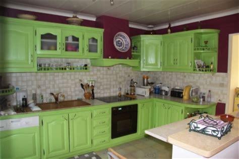 cuisine peinte en vert cuisine moderne vert pistache