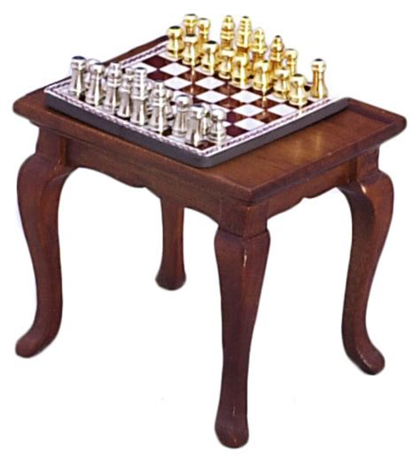 table magnetic chess set 1 quot scale dollhouse t6417 ebay