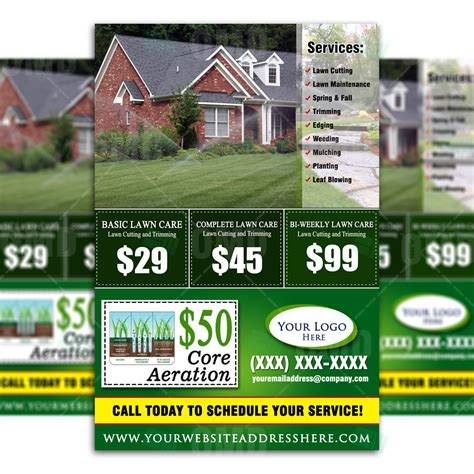 15 lawn care flyers free examples advertising ideas throughout