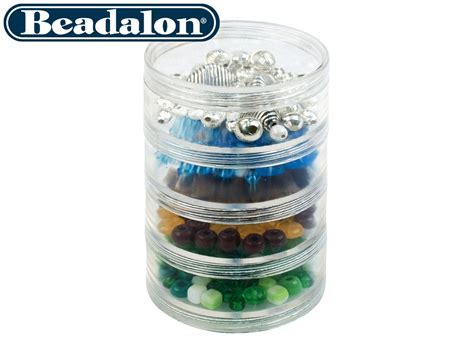 bead container beadalon large bead storage stackable containers four per
