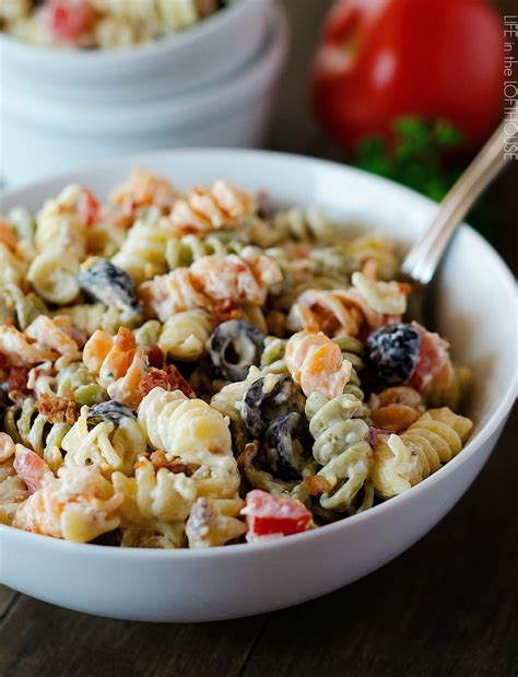 pasta salad ideas bacon ranch pasta salad life in the lofthouse
