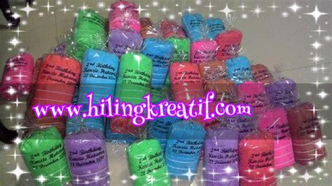 ulang tahun handuk promosi towel cake orderan handuk bahan handuk bordir nama untuk souvenir ultah kenzie desember 2014