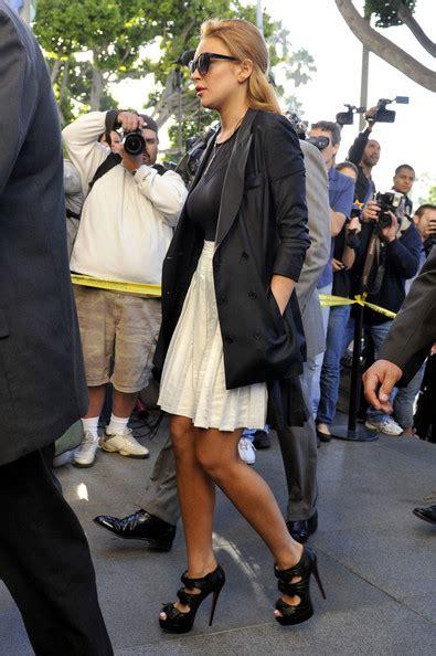 Lindsay Lohan In Christian Louboutins by Christian Louboutin Vs Steve Madden
