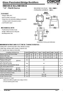 mbm  datasheet specifications diode type single