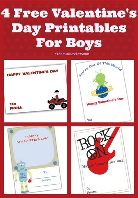 what to get boys for valentines 4 printable valentines for boys the kid s review