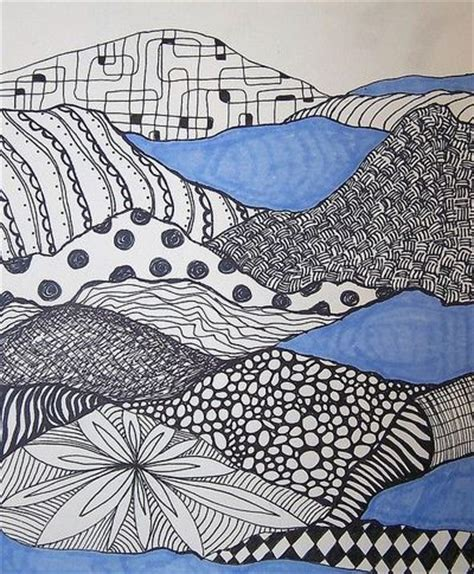 pattern landscape art zentangle landscape idea school planning juxtapost