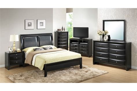 black bedroom furniture sets bedroom sets lauran black full size bedroom set
