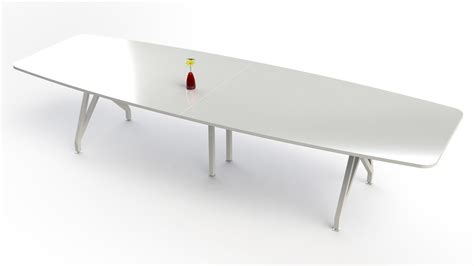 White Meeting Table Kayak Conference Table 12 Zuri Furniture
