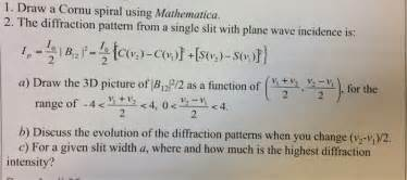 pattern test mathematica solved draw a cornu spiral using mathematica the diffrac