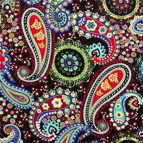 Harga Murah Decorative Black Flower 5m black paisley flower timeless treasures fabric ornament fabric fabric kawaii shop modes4u