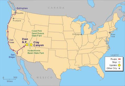 grand map usa bryce national park