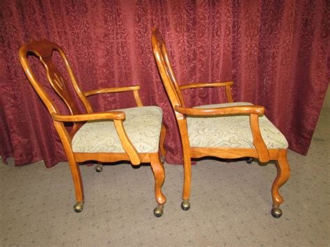 rolling dining room chairs lot detail another pair of rolling dining room chairs