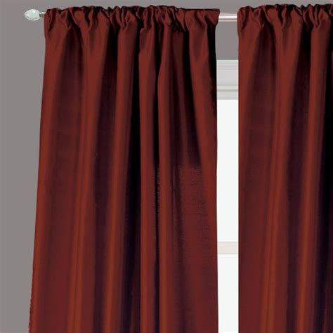 cinnamon curtains ready made drapery faux silk dupioni cinnamon