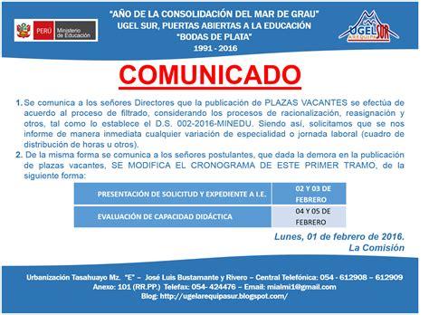 cuadro de mritos contrato 2016 con dni ugel 05 contratos docentes 2016 ugel sur arequipa