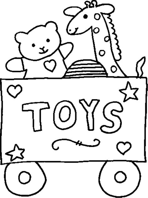 free coloring pages of baby baby toys