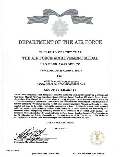 af achievement medal pdf
